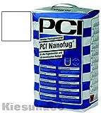 PCI NANOFUG WEIß 4 kg Beutel Flexfugenmörtel Fugenmörtel - Für alle Fugenbreiten - innen, außen, Boden und Wand