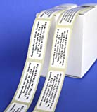 ADRESS-AUFKLEBER mit Wunschdruck | mit schwarzer Schrift, 300 Stück | schöne geprägte Adress-Etiketten | Namens-Aufkleber, individuell mit Wunschtext, ca. 51 x 19 mm, für 1 bis 5 Zeilen | Text per Mail mitteilen