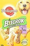 Pedigree Biscrok Hundesnacks 3 köstlichen Geschmacksrichtungen, 6er Pack (6 x 500 g)