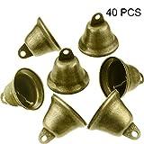 40 Stücke Vintage Klimpern Glocken Bronze Ton Glocken Kupfer Glocken Behänge für Wind Glockenspiel Machen Handwerk Dekorationen