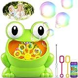 TedGem Seifenblasenmaschine, Bubble Machine, Tragbares Kinder Bubble Machine Mache über 500 Blasen Pro Minute Passend für Kids Birthday Party, Hochzeit, Weihnachten(Blasenflüssigkeit Nicht Enthalten)
