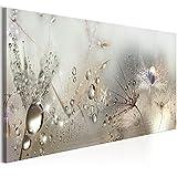 murando - Bilder Pusteblume 150x50 cm - Leinwandbilder - Fertig Aufgespannt - Vlies Leinwand - 1 Teilig - Wandbilder XXL - Kunstdrucke - Wandbild - Blumen Natur grau Pusteblumen b-C-0169-b-b