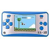 Handheld Spielkonsole Retro Tragbare Spiele Konsolen inkl. 168 80er Klassische Vintage Video Spielen 2.5 'LCD HD Bildschirm Arcade Erholung System Geburtstagsgeschenk für Kinder (Blau)