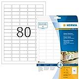 Herma 10901 Power Universal-Etiketten extrem stark haftend (35,6 x 16,9 mm auf DIN A4 Papier, matt) 2.000 Stück auf 25 Blatt, weiß, bedruckbar