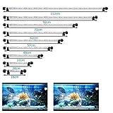SolarNovo 18-112cm LED Aquarium-Licht Unterwasser BeleuchtungAufsatzleuchte Abdeckung Wasserdicht Lampe Stecker EU für Fisch Tank mit Fernbedienung RGB Farbwechsel (1.8 * 112cm, Weiß & Blau)