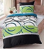 My Home 4-TLG. 4tlg. Baumwolle Polycotton Bettwäsche Cotton Made in Africa 155x220 80x80 4teilig (258756)