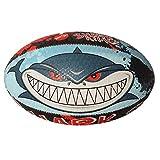 Optimum Herren Shark Attack Midi Rugby-Ball, Herren, Shark Attack, Mehrfarbig, Größe 3