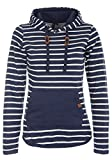 BlendShe Carina Damen Hoodie Kapuzenpullover Pullover Mit Kapuze, Größe:XS, Farbe:Navy (70230)
