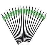 12 x Armbrustpfeile Carbonpfeile Armbrustbolzen Bolzen für Armbrust grün (16 Zoll)