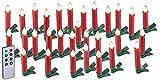 Lunartec Christbaumkerzen: 30er-Set LED-Weihnachtsbaum-Kerzen mit IR-Fernbedienung, rot (Kabellose Christbaumkerzen)