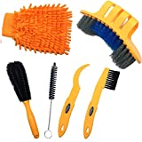 GZCRDZ 6pcs-Reinigung-Kit/-Werkzeug für Fahrrad-Kette/-/Reifen/Sprocket Fahrrad gebeizt, Reinigung, für Fahrrad, gelb