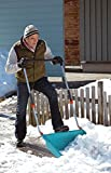 GARDENA Schneewanne: Für Schneeräumung auf größeren Flächen, 70 cm Arbeitsbreite, Schneeschieber mit robuster Stahlkante und 3-stufiger Teleskopierung, mit definierter Trittkante (3260-20)