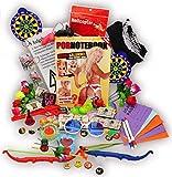 jameitopBauchladen Starter SET 70 Teile Verkaufsartikel + 5 Aufgaben Challenge mit Spielanleitung und benötigten Spielen JGA Edition Junggesellenabschied Inhalt
