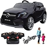 simron Mercedes-Benz A45 AMG SUV Ride-On 12V Kinderauto Kinderfahrzeug (Schwarz)