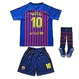 BTA APPAREL 2018/2019 Barcelona #10 Lionel Messi Heim Kinder Fußball Trikot Hose und Socken Kindergrößen (20 (4-5 Jahre))