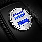 Auto Ladegerät, Mini USB Auto Adapter KFZ Ladegerät 2-Port 24W 5V / 4.8A mit Aluminium-Legierung Gehäuse für iPhone X / 8/7 / 6s / Plus, iPad Air / Mini, Galaxy S8 / S7 / Edge / Plus , Hinweis 5/4, LG, Nexus, HTC und Mor (Silber) (1 Packung)
