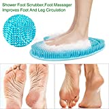 Silikon Dusche Fußmassagegerät Scrubber Reiniger Verbessern die Durchblutung Reduzieren Fußschmerzen Lindert Müde Slip Hochtemperaturbeständige Fußauflage Achy Feet Non