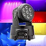 U`King LED Lichteffekte DMX512 Mini Moving Head 4 Farbe RGBW 5 Steuerungsmodus Disco Licht mit 9/14 Kanal für Party Disco Ballsaal Stab Stadium Club(70W)