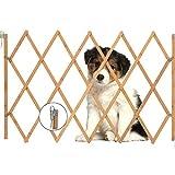 AllRight Hundeabsperrgitter Hundegitter Hundegatter Schutzgitter Treppenschutzgitter Holz aufziehbar Befestigungsmaterial 85 x 108 cm