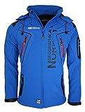 14X5 Geographical Norway Tambour Herren Softshell Jacke Outdoor Blau L