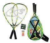 Speedminton Junior Set – Original Speed Badminton/Crossminton Kinder Set inkl. 2 FUN Speeder, Tasche