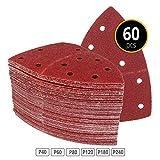 60 Stück Klett-Schleifblätter 105x152 mm Körnung je 10 x 40/60/80/120/180/240 für Multischleifer Prio