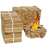 Premium Eiche Anmachholz (Neue Version 2019) - Besonders sauberes und trockenes Brenn-Holz - Ideales Anfeuerholz für eine kuschelige Raumwärme - Perfektes Zubehör um Brennholz im Kamin zu entfachen