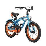 BIKESTAR Premium Sicherheits Kinderfahrrad 16 Zoll für Jungen ab 4 - 5 Jahre  16er Kinderrad Cruiser  Fahrrad für Kinder Blau