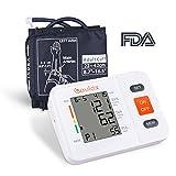 Oberarm Blutdruckmessgerät Vollautomatische Blutdruck und Pulsmessung mit LED großem Display 2 * 90 Speicherplätze Präzise Blutdruckmessung mit Aufbewahrungstasche und Fünf Sprachanweisungen