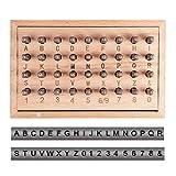 PandaHall Elite 36pcs / Set 1.5mm Eisensiegelmarken, einschließlich Buchstaben A ~ Z, Nummer 0~8 und Ampersand, Siegelstanzwerkzeuge zum Stempeln von Metall/Schmuck/Leder/Holz