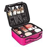 Make Up Etui, SOLOFISH Professionelle Make-up Tasche Kosmetik Organizer Kosmetische Box mit Einstellbare Fächer und Griff Tragbarer Kosmetikkoffer für Reise (Rosa)