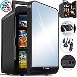 Kesser 2in1 Mini Kühlschrank 20 Liter | mit Kühl- und Heizfunktion | 60Watt | Tragegriff | Steckdose und am Zigarettenanzünder | 12 Volt Kabel | anschließbar | Warmhaltebox | Mini-Thermobox Schwarz