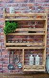 Gewürzregal aus Holz mit noch mehr Platz - hergestellt aus recyceltem Altholz - Upcycling Regal -