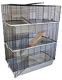 Mäuse- und Hamsterkäfig CARLOS SKY mit 3 Etagen und 7 mm Verdrahtung