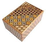 Japanische Puzzlebox Himitsu Bako Geschenkverpackung Geschenkbox oder Schatztruhe klein, perfekt für Geburtstage, Geldgeschenke und Hochzeiten, knobelspiel Handmade in Japan aus Holz