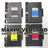 4 XXL Gel Drucker-Patronen Set für Ricoh GC-41 Black, Cyan, Yellow & Magenta (schwarz, rot, blau, gelb) kompatibel mit Aficio SG-2100N SG-3100 Series SG-3100SNW SG-3110DN SG-3110DNW SG-3110N SG-3110SFNW SG-3120BSF SG-3120BSFN SG-3120BSFNW SG-7100DN SG-K3100DN Tintenpatronen