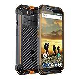 Ulefone Armor 3 Outdoor Handy Wasserdicht, 10300 mAh Akku 4GB +64GB Helio P23 Prozessor IP69K Robustes Smartphone, 5.7 Zoll Display 21MP + 16MP Kamera, Global LTE, PPT, NFC, Orange