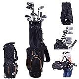 COSTWAY Golftasche 9 Inch Golfbag Pencil Bag Profi-Reisebag Ständerbag mit Kopfteil und Tragegurt