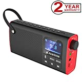 Avantree Portable Radio FM, Bluetooth Lautsprecher & SD Card Player 3 in 1, Auto Scan & Save, LED Display, Wiederaufladbarer Akku - SP850