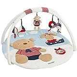 Fehn 078220 3-D-Activity-Decke Teddy   Spielbogen mit 5 abnehmbaren Spielzeugen für Babys Spiel & Spaß von Geburt an   Maße: Ø85cm