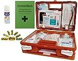Erste-Hilfe-Koffer KITA M1 incl. Sprüh-Pflaster & Hygiene-Ausstattung nach DIN/EN 13157 für Betriebe + DIN/EN 13164 für KFZ - incl. Verbandbuch & Wundreinigung