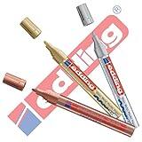 EDDING 750 Lackmarker 3er Sparpaket | 9 Farben & Sortierte zur Auswahl! (3er Set, Sortiert Metallic)