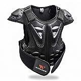 WOSAWE Kinder Motorradjacke Setzt Atmungsaktiv Weste-Schutz + 3D Gepolstert Protektorhose für Radsport Roller Skating Motorrad Sport (Weste S)