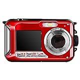 Hoyxel Wasserdicht Digitalkamera, EG04 Mini FHD Videokamera Unterwasser Digital Kamera Weihnachten Neujahr Geschenk (Rein Rot)