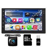 Panlelo Android 7.1 Autoradio 1GB RAM/16GB ROM + 32GB USB FM/AM/RDS Radio Rückfahrkamera 2 din 7 Zoll Touchscreen GPS Navigationsgerät OBD BT WiFi Lenkradsteuerung Armaturenbrett-Einbau-Videogeräte