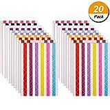 20 Blätter Foto Ecken Selbstklebend für Scrapbook Bilderalbum, Mehrfarbig