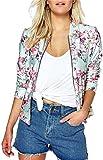 Eudolah Damen Blazer Strickjacke sweatshirt mit Reissverschluss streetwear Fruehling Rosa Gr.XL