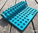Collory Silikon Backmatte | 2cm Halbkugel Backform für Hundekekse Hundeleckerlies | Hitzebeständig 240°C | 40x28.5x1.5cm | Lebensmittelecht (BPA-frei) | Antihaftbeschichtet (Türkis)
