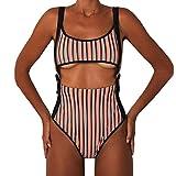 Loveso Monokini Damen Badeanzug Bauchweg Cutouts Strandbikini Monokini Neckholder Rückenfrei One Piece Swimwear Einteilige Schwimmanzug Strandmode
