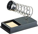 AGT Lötkolbenhalterung: Kompakter Lötkolbenhalter mit Lötschwamm (Lötkolbenablagen)